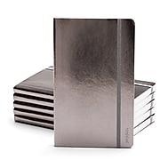 Poppin Medium Soft Cover Notebooks, Gunmetal, 25/Pack