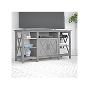 """Bush Furniture Key West Tall TV Stand, Cape Cod Gray, Screens up to 65"""" (KWV160CG-03)"""