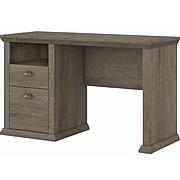 """Bush Furniture Yorktown 50"""" Home Office Desk with Storage, Restored Gray (WC40623-03)"""