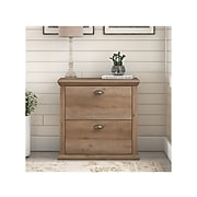 """Bush Furniture Yorktown 2-Drawer Lateral File Cabinet, Letter/Legal, Reclaimed Pine, 30.98"""" (WC40580-03)"""