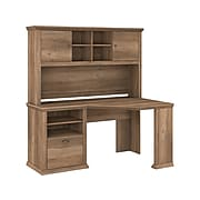 "Bush Furniture Yorktown 60"" Corner Desk with Hutch, Reclaimed Pine (YRK008RCP)"