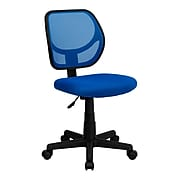 Flash Furniture Fabric Mid-back Task Chair, Blue