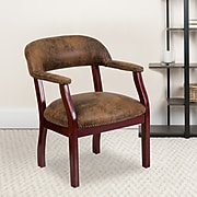 Flash Furniture Bomber Mid Back Luxurious Conference Chair, Jacket Brown