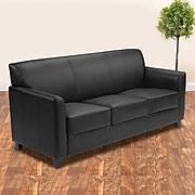 "Flash Furniture HERCULES Diplomat Series 70"" Faux Leather Sofa, Black (BT-827-3-BK-GG)"