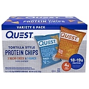 Quest Tortilla Style Protein Chips, Variety Pack, 1.1 Oz., 6/Box (220-01145)