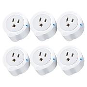 ETEKCITY Voltson Smart Wi-Fi Outlet Plug, 6/Pack (EDESSPECSUS0025)