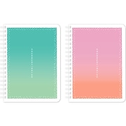"""Carolina Pad Sherbert Notes Personal Notebook, 5"""" x 7"""", College-Ruled, 80 Sheets, Blue/Pink (35049)"""