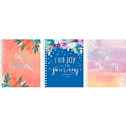 """Carolina Pad Silver Lining Ideal Notebook, 7.4"""" x 8.7"""", College-Ruled, 120 Sheets, Dream/Joy/Happy (55021)"""
