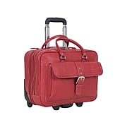 Heritage Leather Dual Compartment Portfolio Tote, Red (827794)