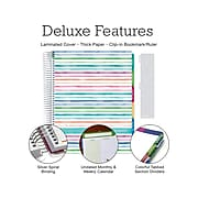 """Undated Global Printed Products 8.5"""" x 11"""" Teacher Planner, Deluxe, Multicolor (DTP-0001-U22-S)"""