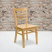 Flash Furniture Hercules Series Ladder Back Wooden Restaurant Chair, Natural Wood
