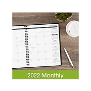 """2022 AT-A-GLANCE 7"""" x 8.75"""" Monthly Planner, Black (70-120-05-22)"""