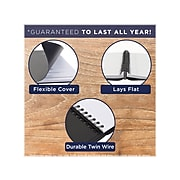 """2022 AT-A-GLANCE 5"""" x 8"""" Daily Appointment Book,  Black (70-800-05-22)"""