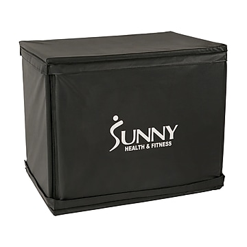 Sunny Health & Fitness Black Plyometric Box, 500 Lbs. Weight Capacity (NO. 084)