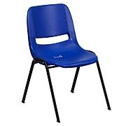 Flash Furniture HERCULES Plastic Shell Stack Chair, Blue (RUTEO1BLGG)