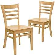 Flash Furniture HERCULES™ Wooden Ladder Back Restaurant Chair, Natural, 2/Pack