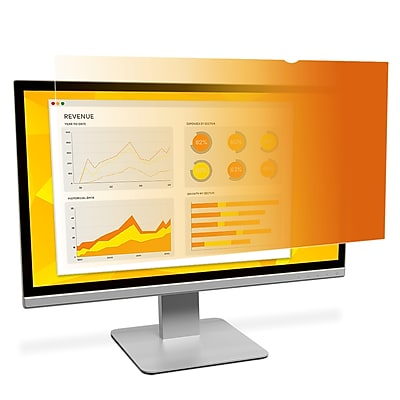 Black out side views 3M Framed Privacy Filter for 27 Widescreen Monitor PF270W9F