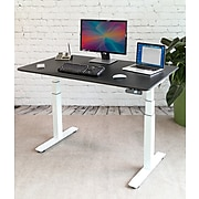 Seville Classics AIRLIFT Electric Standing Desk, White with Black Top (OFFK65819)