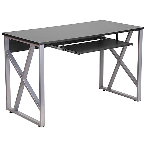 Flash Furniture Black Computer Desk, Flash Furniture L Shaped Computer Desk With Pullout Keyboard Tray
