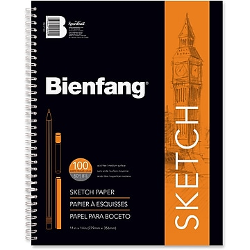 "Bienfang 11"" x 14"" General Purpose Sketch Pad, 100 Sheets (R237130)"