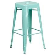 30'' High Backless Mint Green Indoor-Outdoor Barstool [ET-BT3503-30-MINT-GG]