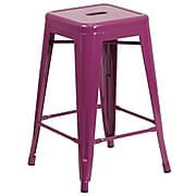 24'' High Backless Purple Indoor-Outdoor Counter Height Stool (ET-BT3503-24-PUR-GG)