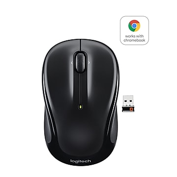 Logitech M325 Wireless Optical Ambidextrous Mouse, Black (910-002974)