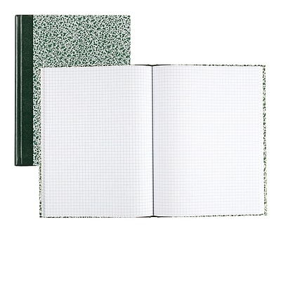 4 X 4 Quad 75 Sheets National Brand Computation Notebook - 1 Pack Brown 43648 Green Paper 11.75 x 9.25 Inches