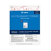 Adams 2020 W-3 Tax Forms, 10/Pack (STAXW320)
