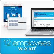 Adams 2020 W-2 Tax Forms with Self Seal Envelopes, Access to Tax Forms Helper Online, 12/Pack (STAX61220)