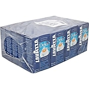 Lavazza Dek Decaf Ground Coffee, Dark Roast, 8.8 oz., 20/Carton, 1/Carton (1111)