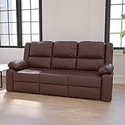 "Flash Furniture 38""H Brown Leather Recliner Sofa (BT70597SOFBN)"
