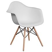 Flash Furniture Plastic Chair(FH132DPPWH)