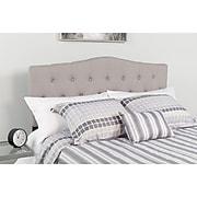 """Flash Furniture HERCULES Series Twin Headboard Fabric, 39.25""""W x 3""""D x 43.75"""" - 56.25""""H, Light Gray (HGHB1708TLG)"""