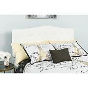 """Flash Furniture HERCULES Series Queen Headboard Fabric, 61.5""""W x 3""""D x 43.75"""" - 56.25""""H, White (HGHB1708QW)"""