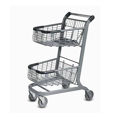 EXpress6000 Convenience Shopping Cart w/ Child Seat, Black,Size: large