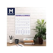 """2022 AT-A-GLANCE 11"""" x 8"""" Wall Calendar, Small, White/Purple/Red (PM1-28-22)"""