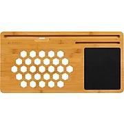 "LapGear 22"" x 11"" Lap Board, Natural Bamboo/Black (77001)"
