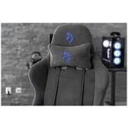 Arozzi Verona Signature Soft Fabric Ergonomic Racing Gaming Chair, Gray/Blue (VERONA-SIG-SFB-BL)