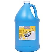 Handy Art Little Masters Washable Tempera Paint, Light Blue, Gallon (RPC214732)