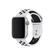 Apple 40mm Nike Sport Band Wristband, Black/Pure Platinum (MX8D2AM/A)