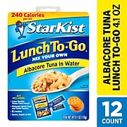 StarKist Lunch-To-Go Albacore Tuna in Water, 12/Pack (307-00211)