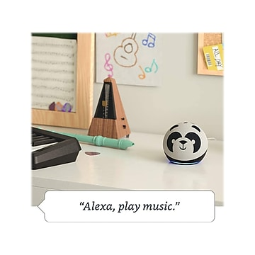 Amazon Echo Dot (4th Gen) Kids Edition, Panda (B084J4MJCK)