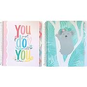 "Carolina Pad G'day Sunshine 5-Subject Notebooks, 9.5"" x 11"", 150 Sheets, Koala/Quote (17507)"