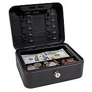 Royal Sovereign RSCB-100 Compact Lockable Cash Box, Black Solid Steel