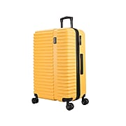 InUSA Ally Plastic 4-Wheel Spinner Luggage, Mustard (IUALL00L-MUS)