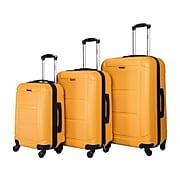 InUSA Pilot 3-Piece Plastic Luggage Set, Mustard (IUPILSML-MUS)