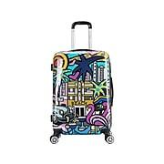 InUSA Prints PC/ABS Plastic 4-Wheel Spinner Luggage, Miami (IUAPC00M-MIA)