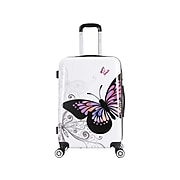 InUSA Prints PC/ABS Plastic 4-Wheel Spinner Luggage, Butterfly (IUAPC00M-BUT)