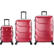 DUKAP ZONIX PC/ABS Plastic Luggage Set, Wine (DKZONSML-WIN)